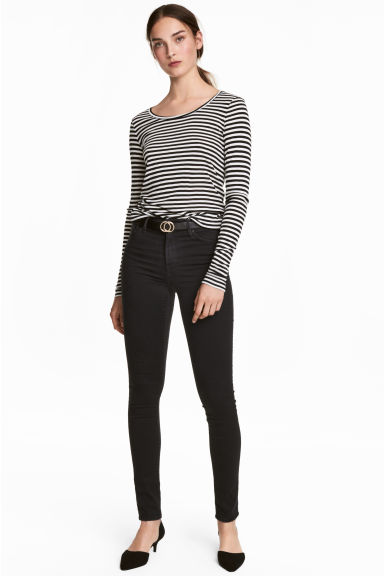 Shaping Skinny Regular Jeans - Black denim -  | H&M