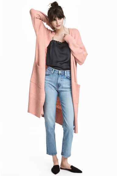 Long cardigan - Powder pink -  | H&M
