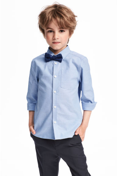 Shirt with a tie/bow tie - Blue/Bow tie - Kids | H&M