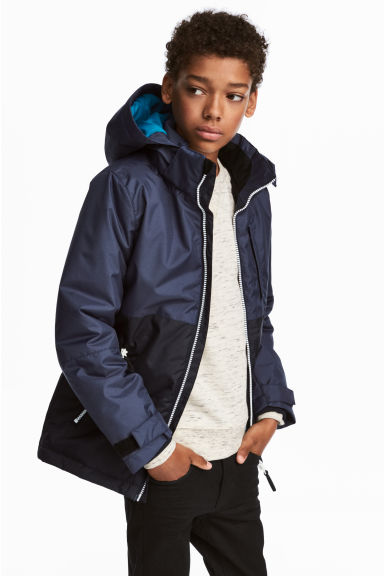 Padded outdoor jacket - Dark blue -  | H&M