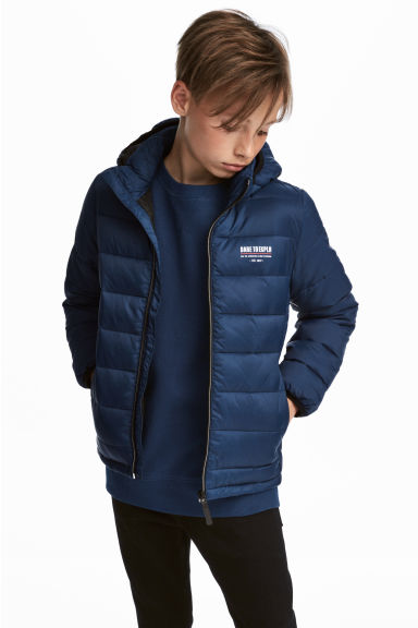 Lightweight padded jacket - Dark blue - Kids | H&M CN