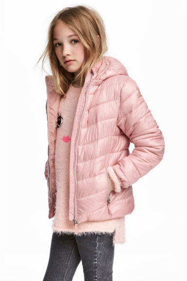 Padded jacket - Light pink -  | H&M IE