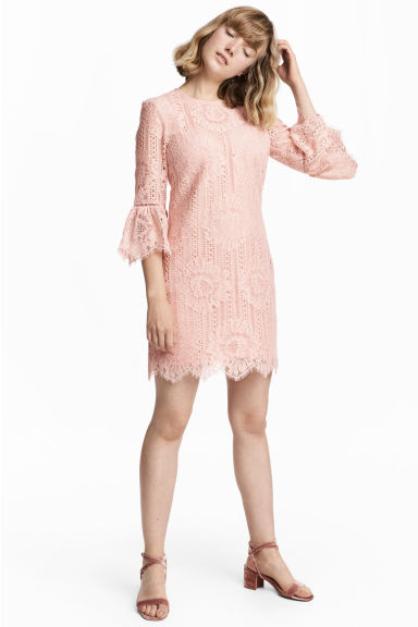 Lace dress - Powder pink -  | H&M