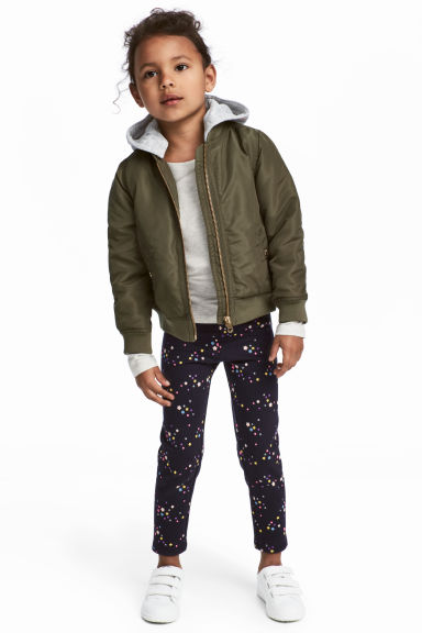 Sturdy jersey leggings - Dark blue/Stars - Kids | H&M CN