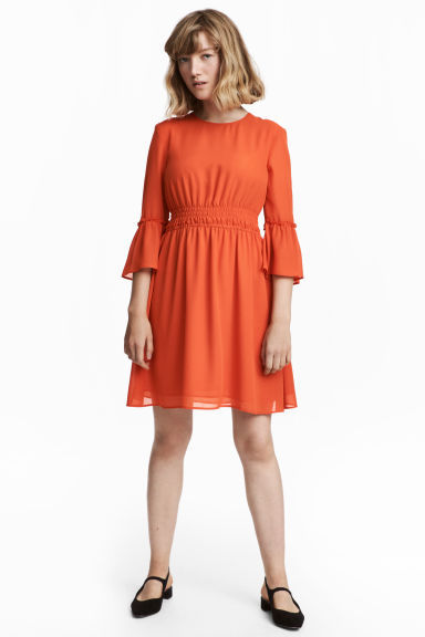 Chiffon dress - Orange -  | H&M