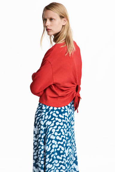 Sweatshirt with an opening - Red - Ladies | H&M IE