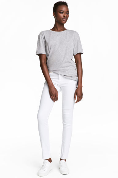 Superstretch trousers - White - Ladies | H&M CN