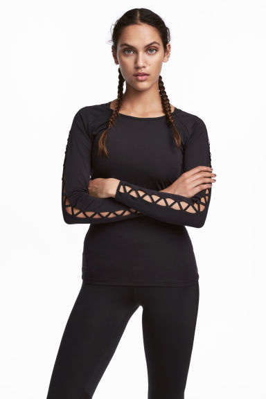 Running top - Black - Ladies | H&M CN