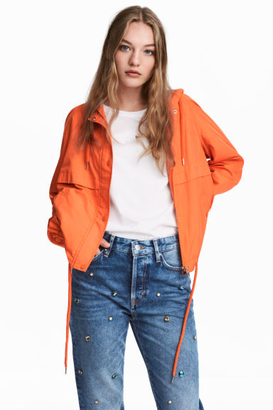 Hooded jacket - Orange - Ladies | H&M IE