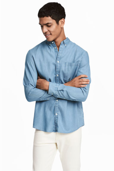 Denim shirt Regular fit - Light denim blue -  | H&M CN