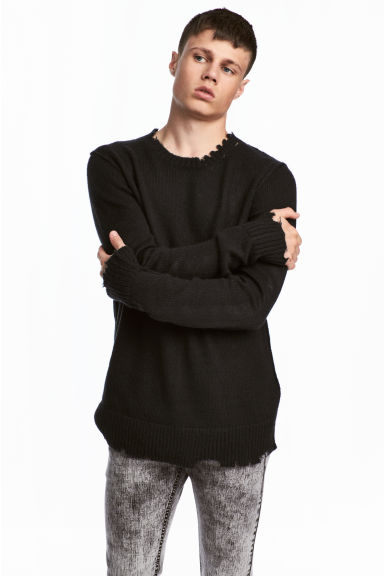 Fine-knit jumper - Black -  | H&M