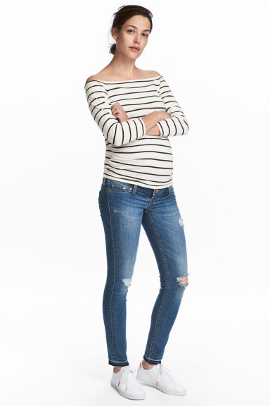 MAMA Skinny Jeans - Mid denim blue - Ladies | H&M