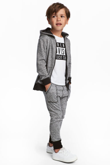 Joggers - Black/Grey marl - Kids | H&M CN