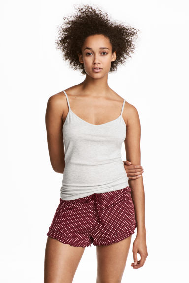 Pyjama top and shorts - Pink - Ladies | H&M IE