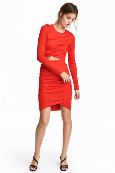 Draped skirt - Red - Ladies | H&M