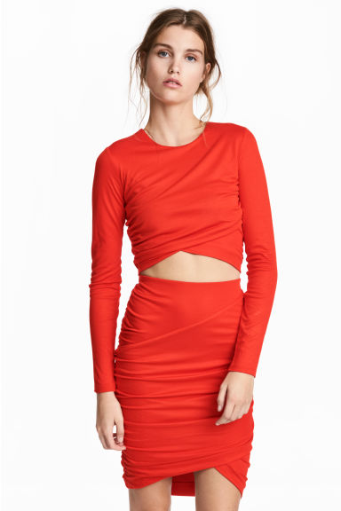 Cropped top - Red -  | H&M IE