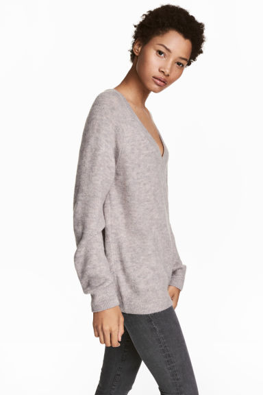V-neck jumper - Grey - Ladies | H&M IE