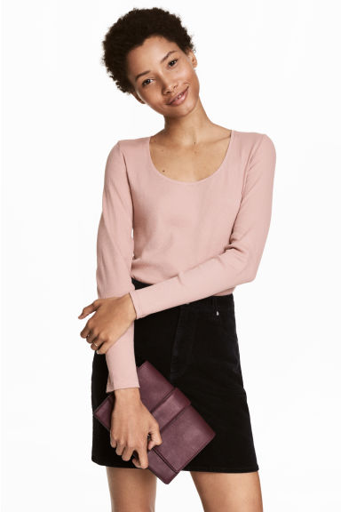 Jersey top - Powder pink - Ladies | H&M GB