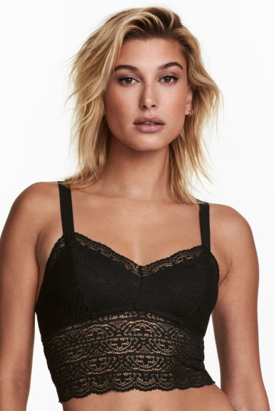 Lace bralette - Black -  | H&M