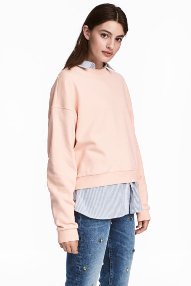 Cropped sweater - Lichtroze -  | H&M NL