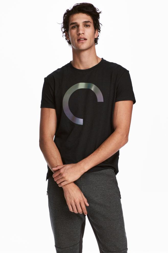 9750b478b Camisola desporto manga curta - Preto - HOMEM