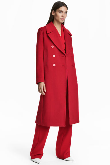 Wool-blend coat - Red - Ladies | H&M