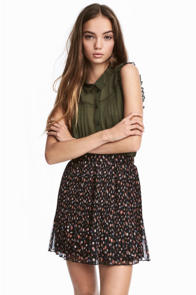 Sleeveless blouse - Khaki green - Ladies | H&M