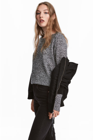 Knitted jumper - Black marl - Ladies | H&M