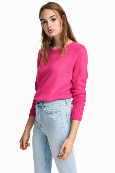 Knitted jumper - Cerise - Ladies | H&M