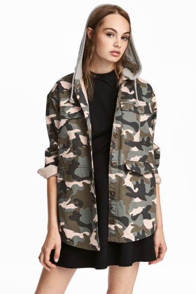 Jacket - Khaki green/Pattern - Ladies | H&M