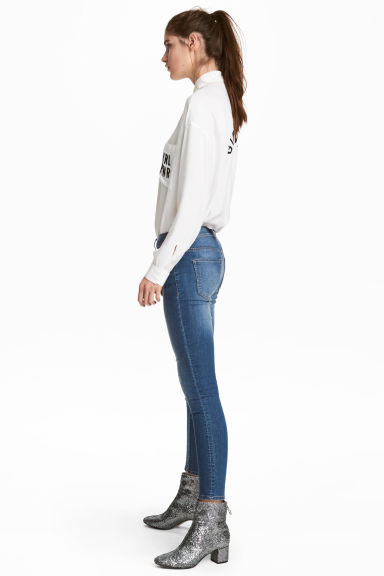 Skinny Regular Jeans - Denim blue - Ladies | H&M
