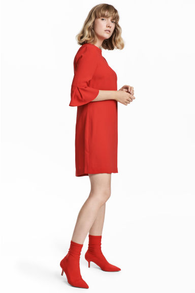 Short dress - Red - Ladies | H&M CN