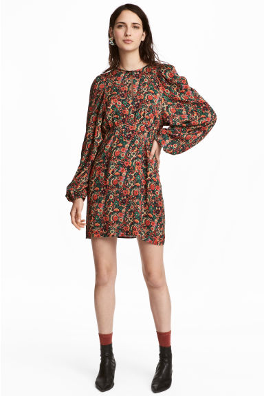 Patterned dress - Orange/Floral -  | H&M CN