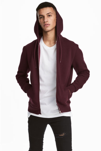 Hooded jacket - Burgundy - Men | H&M IE