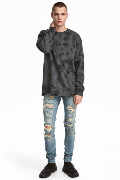 Super Skinny Trashed Jeans - Bleu denim clair - HOMME | H&M FR