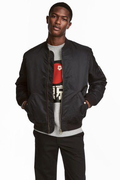 Padded bomber jacket - Black -  | H&M
