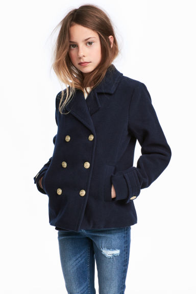 Reefer jacket - Dark blue - Kids | H&M