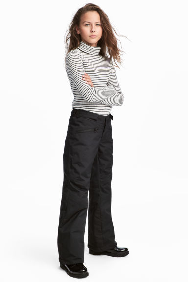 Padded outdoor trousers - Black - Kids | H&M