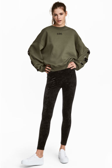 Legging en velours frappé - Noir -  | H&M BE