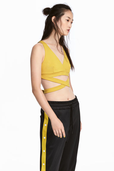 Bustier top - Yellow - Ladies | H&M