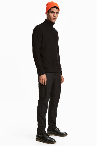 Suit trousers Slim fit - Black - Men | H&M