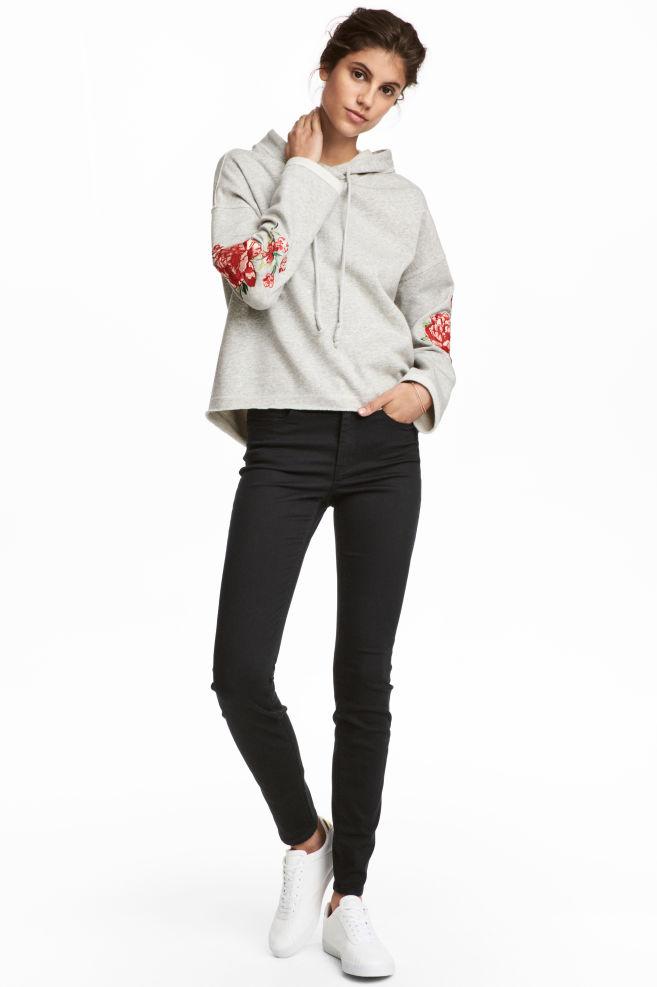 18adcb426d3 Ankellange stretchbukser - Sort - DAME   H&M ...