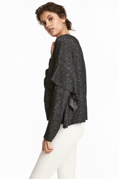Fine-knit jumper - Black marl - Ladies | H&M CN