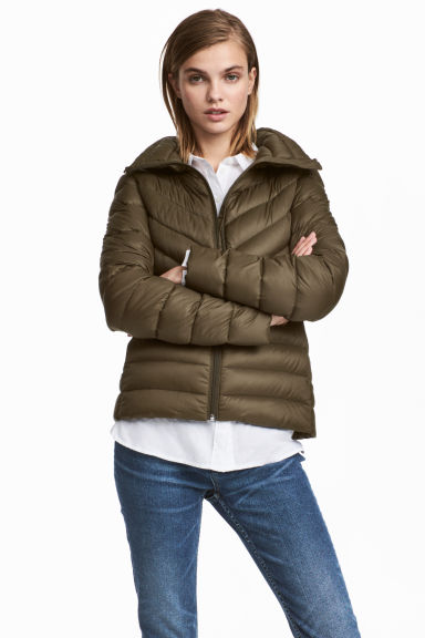 Lightweight down jacket - Khaki green -  | H&M CN