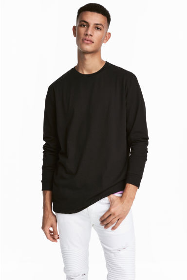 Long-sleeved top - Black -  | H&M