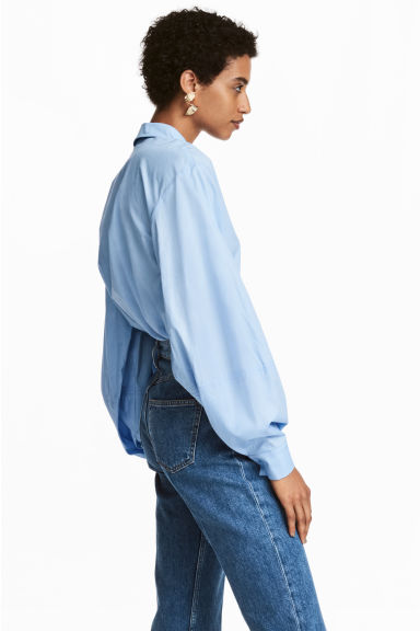 Cotton blouse - Light blue -  | H&M