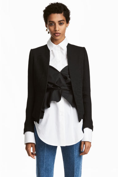 Crinkled jacket - Black -  | H&M IE