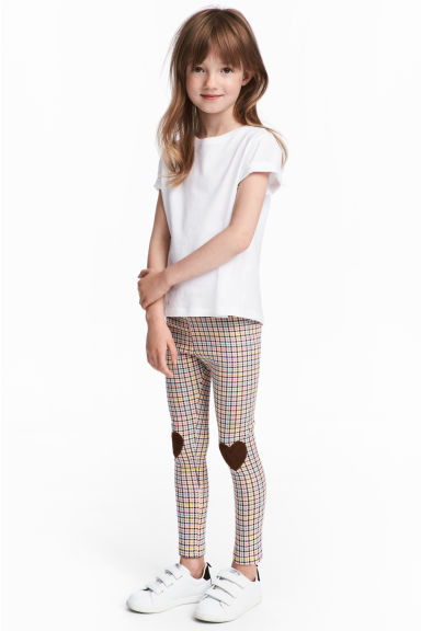 Leggings - Rosa/Rutig -  | H&M FI