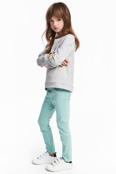Corduroy treggings - Turquoise - Kids | H&M GB