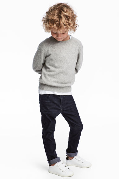 Corduroy trousers - Dark blue - Kids | H&M CN